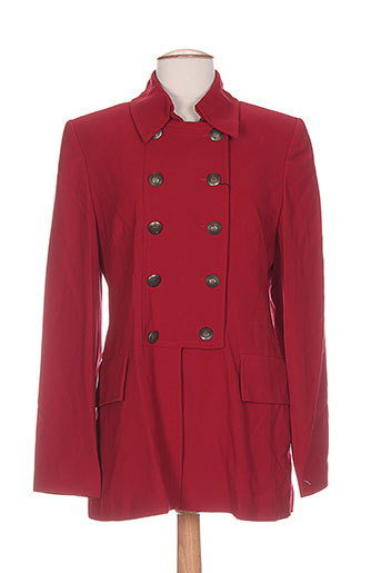 exaltation manteaux femme de couleur rouge