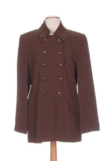 exaltation manteaux femme de couleur marron