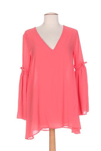 serena kay t-shirts femme de couleur rose