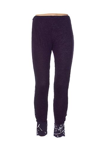 akela key pantalons femme de couleur violet