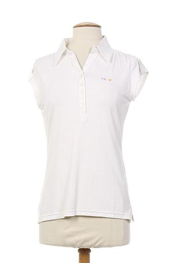 nuni t-shirts femme de couleur blanc