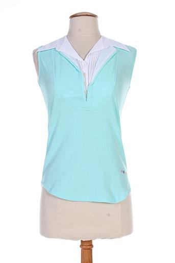 nuni t-shirts femme de couleur bleu