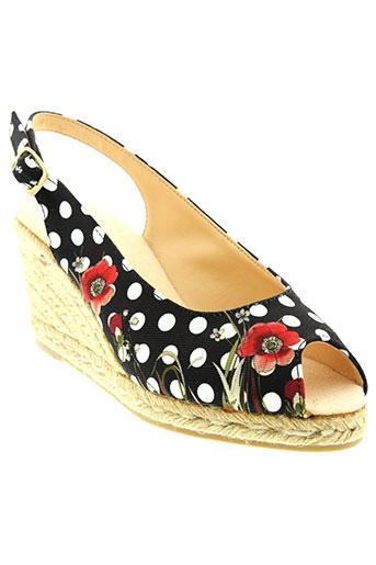 desigual sandales et nu et pieds femme de couleur noir