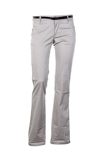 salsa pantalons femme de couleur gris