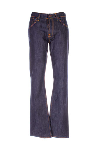 nudie et jeans et co jeans et coupe et droite homme de couleur bleu