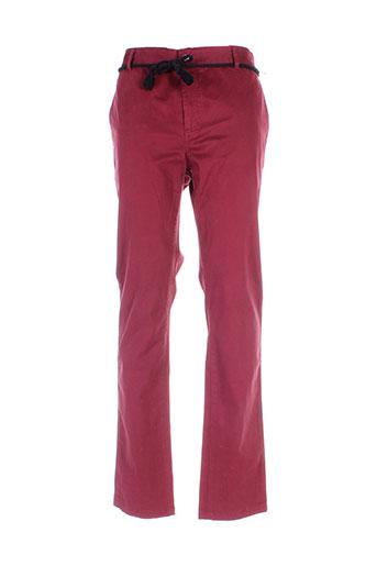 eleven et paris pantalons et decontractes femme de couleur rouge