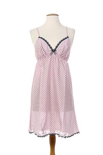 antigel chemises et de et nuit femme de couleur rose