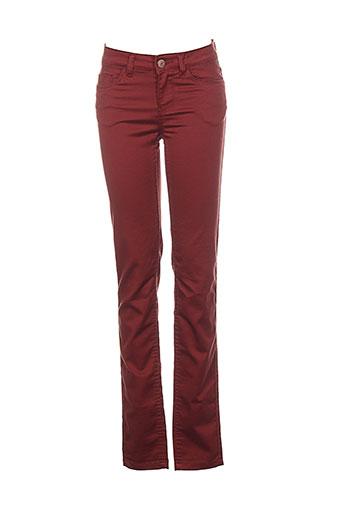 noisy et may pantalons et decontractes femme de couleur rouge