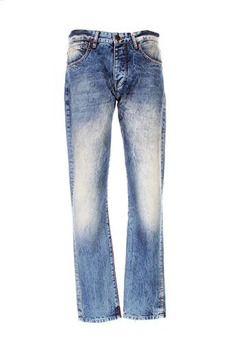 freeman et t et porter jeans et coupe et droite homme de couleur bleu