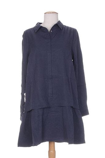 frnch robes femme de couleur bleu