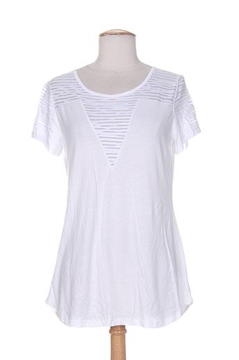 ams pure t et shirts et tops femme de couleur blanc