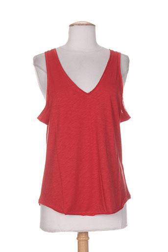 essentiels chemises femme de couleur rouge