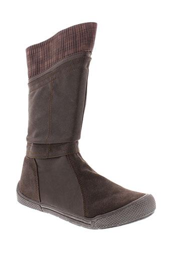 minibel bottes femme de couleur marron