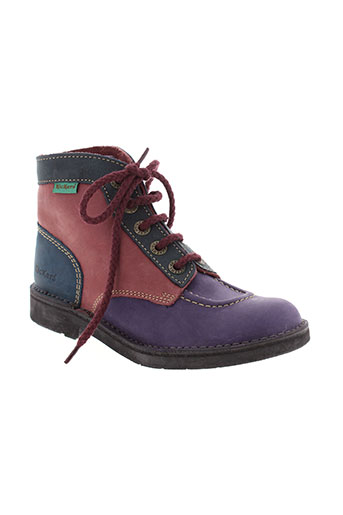 kickers boots fille de couleur violet