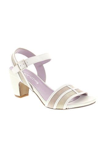 mitica chaussures femme de couleur blanc