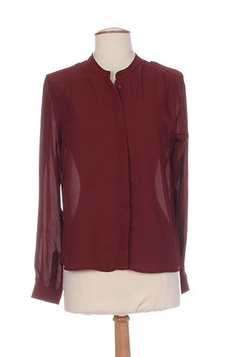 pepe jeans chemises femme de couleur rouge