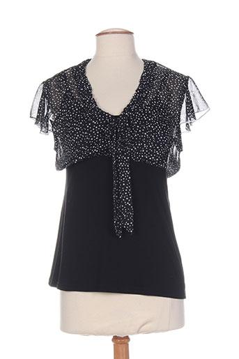 sarah luna chemises femme de couleur noir