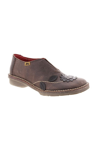 alce chaussures femme de couleur marron