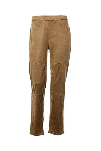 frank et walder pantalons et citadins femme de couleur marron