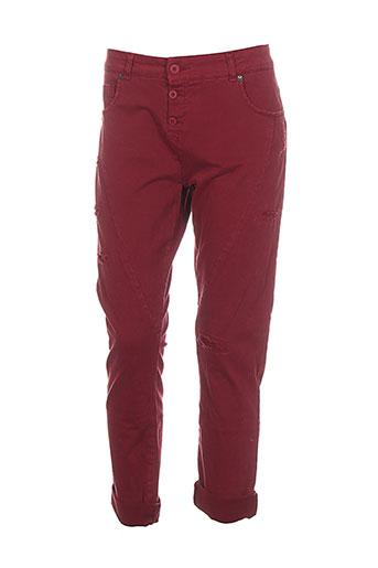 piu piu pantalons femme de couleur rouge