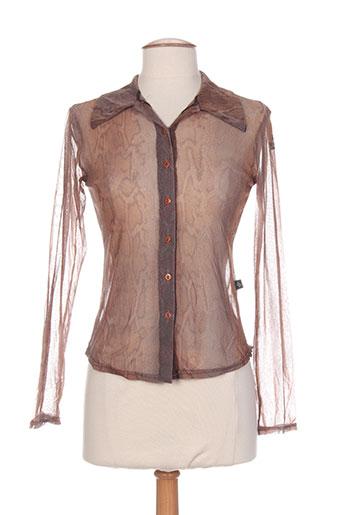 new london chemises femme de couleur marron