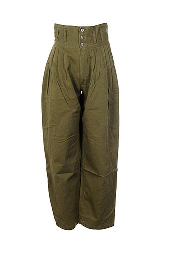 filly ston's pantalons femme de couleur vert