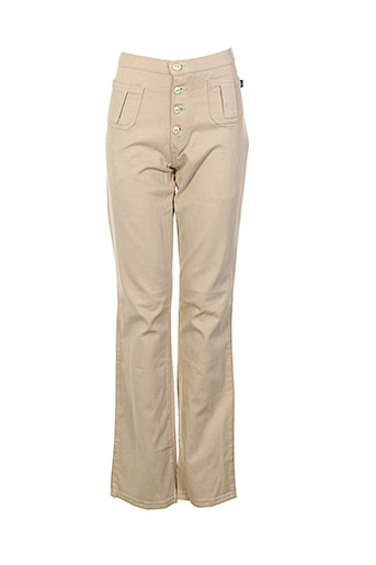 new london pantalons femme de couleur beige