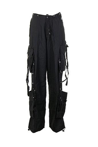 punky fish pantalons femme de couleur noir