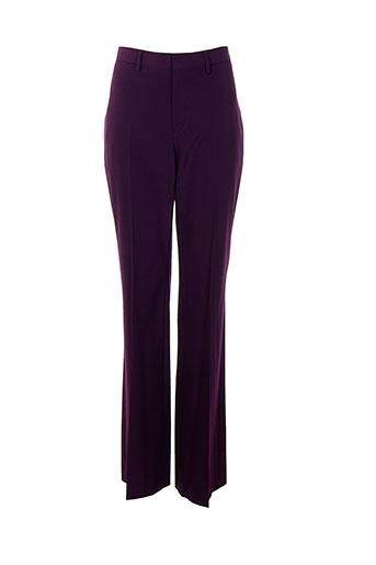Pantalon chic violet ET VOUS pour femme