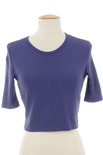 shirting t-shirts femme de couleur bleu