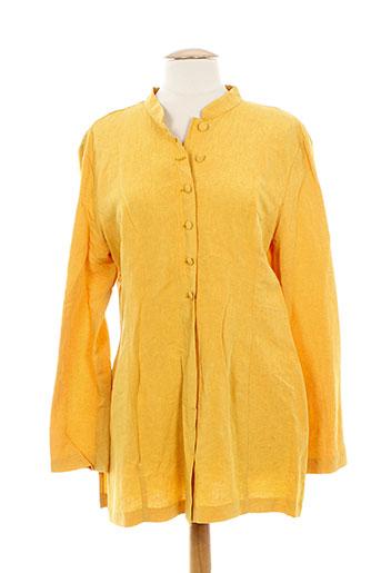 anne elisabeth chemises femme de couleur jaune