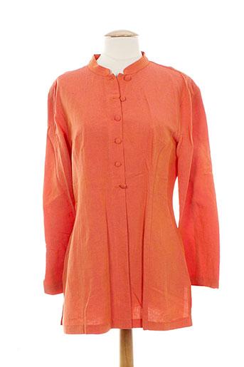 anne elisabeth chemises femme de couleur orange