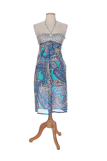 amarillolimon robes femme de couleur bleu