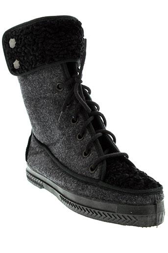 alain et videau boots femme de couleur gris