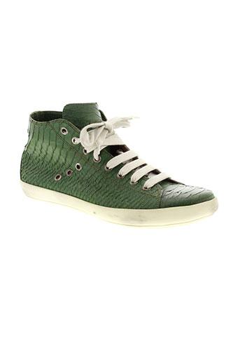 firenze baskets femme de couleur vert