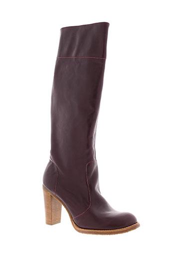 pare et gabia bottes femme de couleur violet