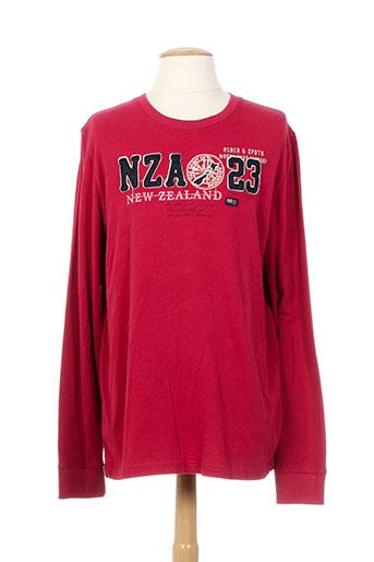 n.z.a new zealand t-shirts homme de couleur rouge