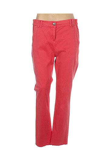 stella forest pantalons femme de couleur rouge