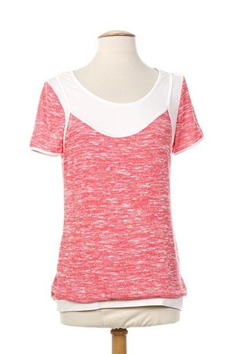 eva week-end chemises femme de couleur rouge