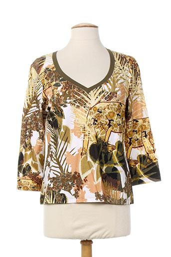 evalinka t-shirts femme de couleur beige