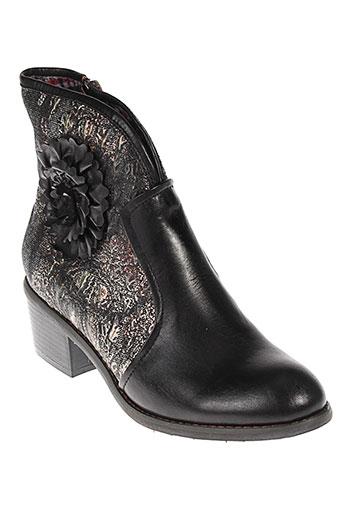 laura et vita boots femme de couleur noir