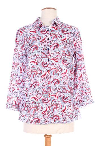 bariloche chemises femme de couleur rouge