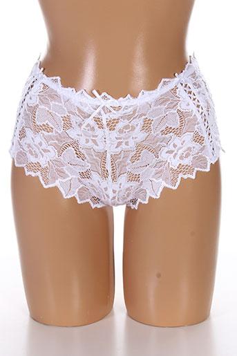 audelle shortys et boxers femme de couleur blanc