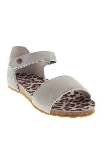 ikks sandales et nu et pieds fille de couleur gris