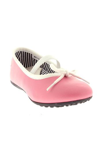 petit et bateau ballerines fille de couleur rose