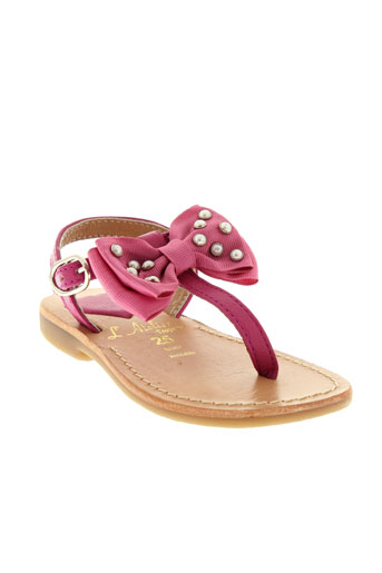l'atelier tropézien chaussures fille de couleur rose