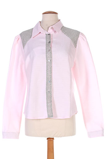 marie-lucie chemises femme de couleur rose