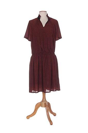 Robe mi-longue orange COLOR BLOCK pour femme