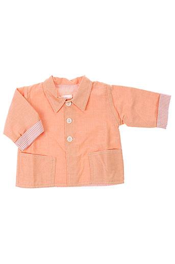 chez florence vestes garçon de couleur orange