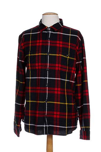 edwin chemises homme de couleur rouge